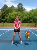 Polina C. teaches tennis lessons in Cary , Nc